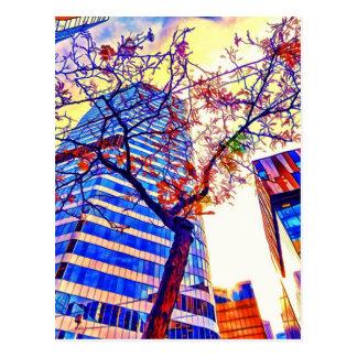Cartão Postal Cidade Skyscape de Toronto pelo Mac de Shawna