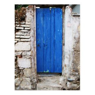 Cartão Postal Cidade velha da PORTA AZUL de Chania, Crete