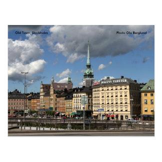 Cartão Postal Cidade velha, Éstocolmo, Ola B da foto…