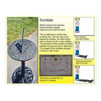 Cartão Postal Ciência, sombras e Sundials