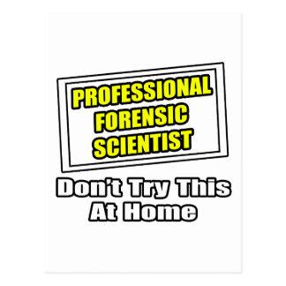 Cartão Postal Cientista judicial profissional. Piada