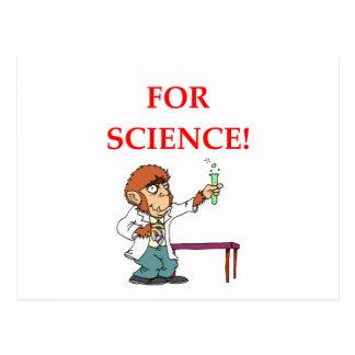 Cartão Postal cientista louco