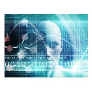 Cartão Postal Cientistas da educação e tornar-se da ciência