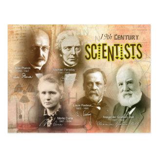 Cartão Postal Cientistas do século XIX famosos