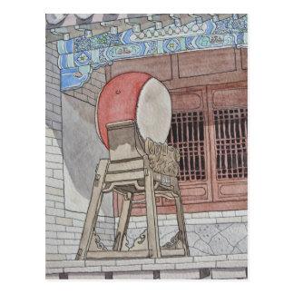 Cartão Postal Cilindro chinês
