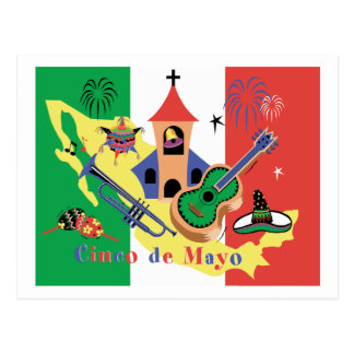 Cartão Postal Cinco feliz de Mayo