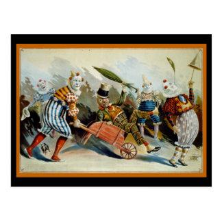 Cartão Postal Cinco palhaços