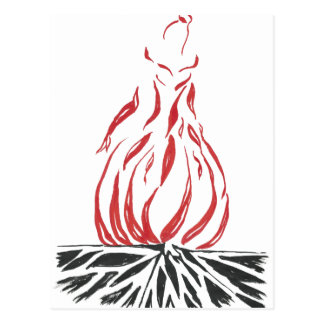 Cartão Postal Cinderella abstrata Phoenix