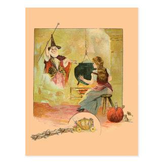Cartão Postal Cinderella e sua mãe feericamente do deus