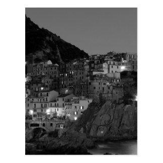 Cartão Postal Cinque preto e branco Terre