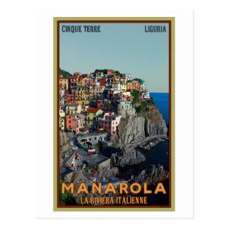 Cartão Postal Cinque Terre - Manarola
