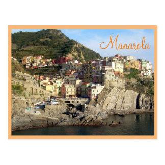 Cartão Postal Cinque Terre (Manarola) com texto