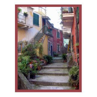 Cartão Postal Cinque Terre (rua de Monterosso)