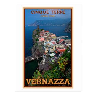 Cartão Postal Cinque Terre - Vernazza de cima de