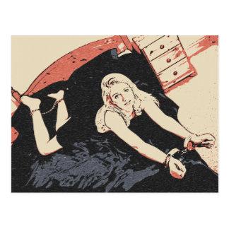 """Cartão Postal Cinqüênta máscaras do louro """"sexy"""" da arte da"""