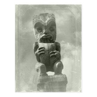 Cartão Postal Cinzeladura maori de Nova Zelândia