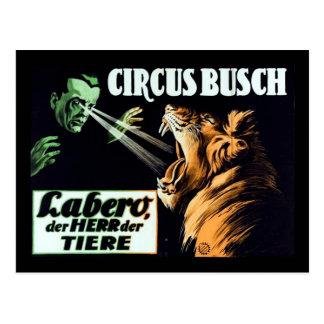 Cartão Postal Circo Busch, Labero o Hypnotist