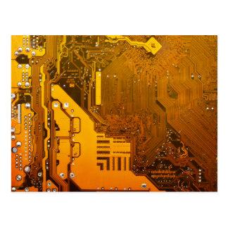 Cartão Postal circuito eletrônico amarelo board.JPG