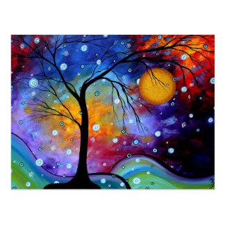 Cartão Postal Círculo da faísca do inverno da pintura da vida