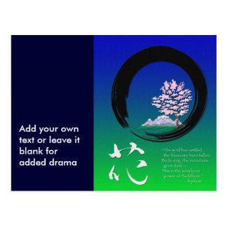 Cartão Postal Círculo de Enso e sabedoria do zen por Ryokan