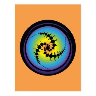 Cartão Postal Círculo espiral triplo da colheita