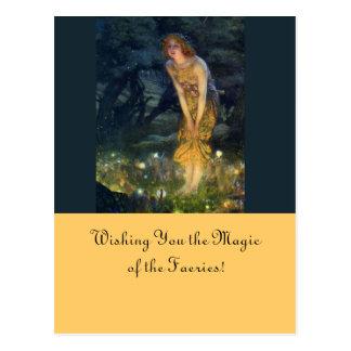Cartão Postal Círculo feericamente de véspera de plenos Verões