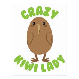 Cartão Postal círculo louco da senhora do quivi