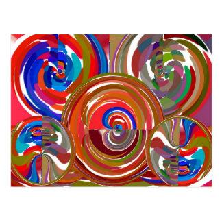 Cartão Postal Círculos da limpeza da aura - mandala 7 da