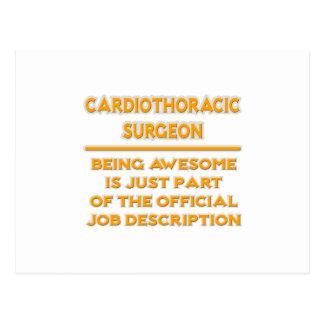 Cartão Postal Cirurgião de Cardiothoracic. Enumeração das