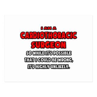Cartão Postal Cirurgião engraçado de Cardiothoracic. Altamente
