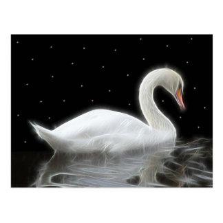 Cartão Postal Cisne da noite