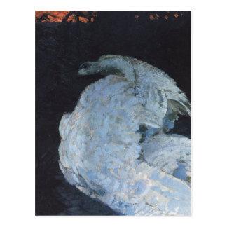 Cartão Postal Cisne por Mikhail Vrubel