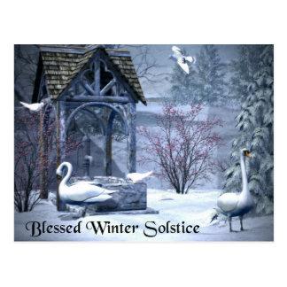 Cartão Postal Cisnes abençoadas do solstício de inverno