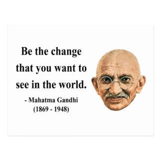 Cartão Postal Citações 1b de Gandhi