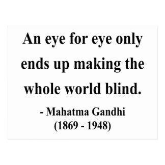 Cartão Postal Citações 3a de Gandhi