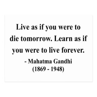 Cartão Postal Citações 4a de Gandhi