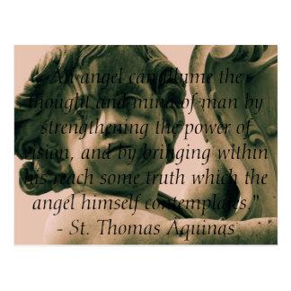 Cartão Postal Citações angélicos do anjo - cotação do anjo