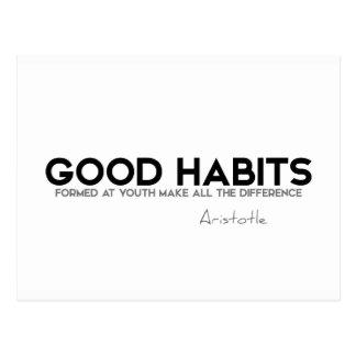 Cartão Postal CITAÇÕES: Aristotle: Bons hábitos