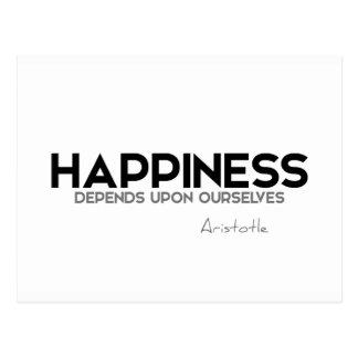 Cartão Postal CITAÇÕES: Aristotle: Felicidade
