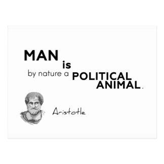 Cartão Postal CITAÇÕES: Aristotle: Homem: animal político