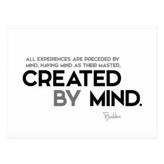 Cartão Postal CITAÇÕES: Buddha: Criado pela mente