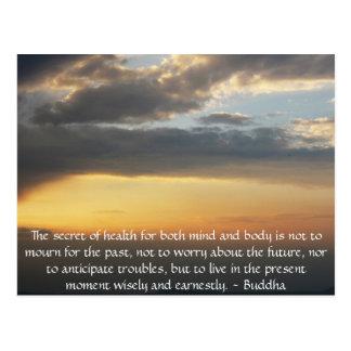 Cartão Postal Citações budistas bonitas com foto inspirada