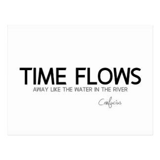 Cartão Postal CITAÇÕES: Confucius: O tempo flui afastado