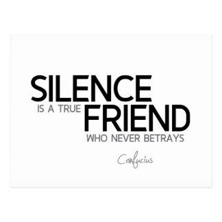 Cartão Postal CITAÇÕES: Confucius: Silêncio, amigo verdadeiro