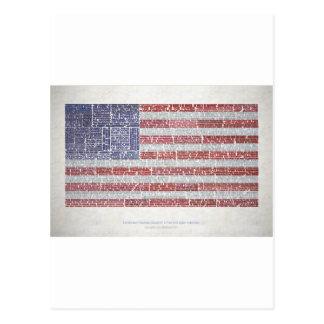 Cartão Postal Citações da bandeira para um Internet livre e