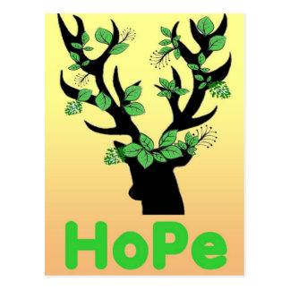 Cartão Postal Citações da esperança do chifre dos cervos