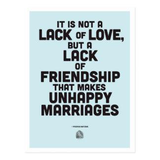 Cartão Postal Citações da filosofia do casamento