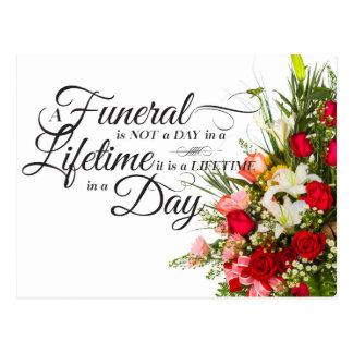 Cartão Postal Citações da simpatia do roteiro do buquê da flor