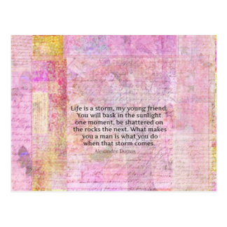 Cartão Postal Citações da vida da sabedoria de Alexandre Dumas