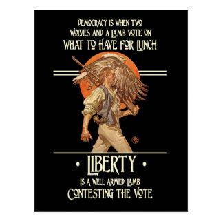 Cartão Postal Citações de Ben Franklin: Cordeiro armado bom